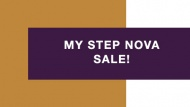 My Step Nova - Sale!